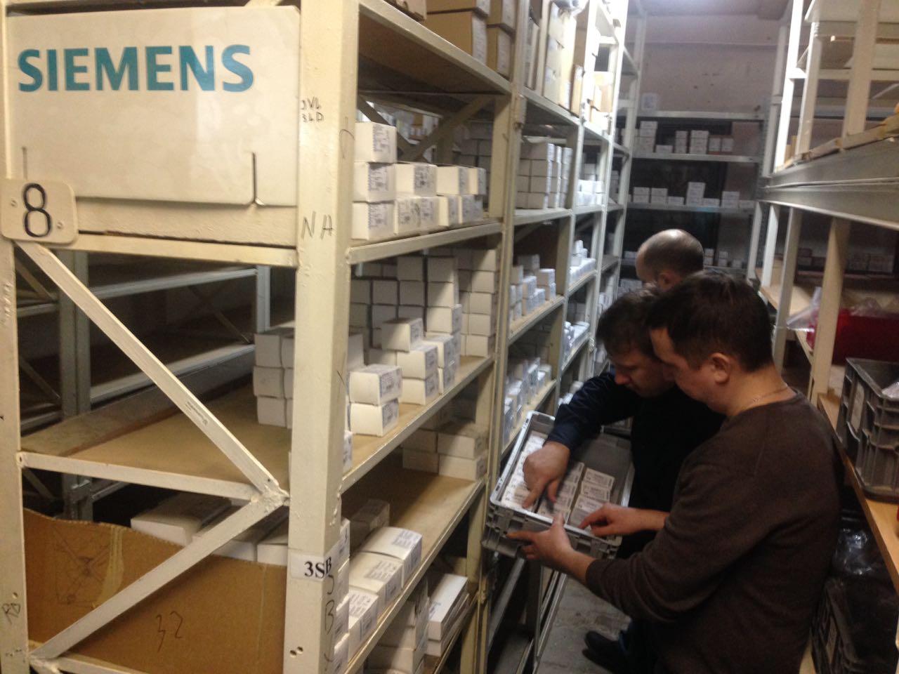 Очередная проверка складских запасов Siemens